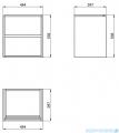 Cersanit Crea szafka wisząca 50x40x53 cm biała S924-002