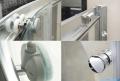 Omnires Bronx kabina asymetryczna 100x80cm szkło przejrzyste  detale