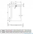 Radaway Teos F brodzik 120x90cm biały HTF12090-04