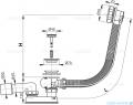 Alcaplast  syfon wannowy automatyczny chrom A55KM-100