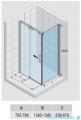 Riho Ocean kabina prostokątna lewa 140x80cm GU0204100/GU0300102
