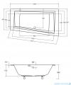 Besco Intima Slim 150x85cm wanna asymetryczna prawa #WAI-150-SPI