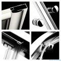 Radaway Classic A Kabina prysznicowa półokrągła z drzwiami przesuwnymi 90x90x185 szkło fabric profile białe 30000-04-06