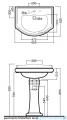 Kerasan Retro Umywalka 69x52cm 1046