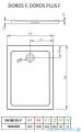 Radaway Doros F Brodzik prostokątny 100x80x5,5cm SDRF1080-01
