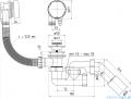 Akces syfon wannowy z korkiem automatycznym chrom 19975