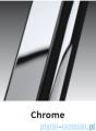 Novellini Drzwi do wnęki z elementem stałym GIADA G+F 150 cm prawe szkło przejrzyste profil chrom GIADNGF150D-1K