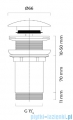 Oltens Rovde korek do umywalki klik klak okrągły bez przelewu G1 1/4 czarny mat 05200300