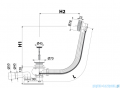 Alcaplast  syfon wannowy automatyczny mosiądz antyczny A55ANTIC