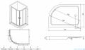 Besco Modern kabina asymetryczna z brodzikiem prawym 100x80cm przejrzyste MA-100-80-C/#BAS-100-NP