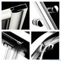 Radaway Classic A Kabina prysznicowa półokrągła z drzwiami przesuwnymi 80x80x185 szkło przejrzyste profile białe 30010-04-01