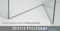 Radaway Torrenta Kdd Kabina prysznicowa 100x80 szkło przejrzyste + brodzik Doros D + syfon z progiem