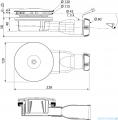 Radaway syfon brodzikowy chrom 90mm R400W SLIM