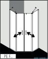 Kermi Pega kabina pięciokątna drzwi wahadłowe, 90x90 cm szkło przezroczyste PEF4709020VPK