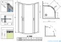 Radaway Premium Plus A Kabina półokrągła 80x80 przejrzyste 30413-01-01N