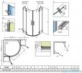 Radaway Euphoria PDD Kabina prysznicowa 90x90 szkło przejrzyste 383001-01L/383001-01R