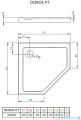 Radaway Doros PT brodzik pięciokątny 90x90cm SDRPT9090-01