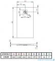 Radaway Kyntos F brodzik 110x90cm antracyt rysunek techniczny