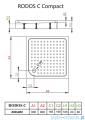 Radaway Brodzik kwadratowy Rodos C 80x80 z obudową zintegrowaną 4K88155-04