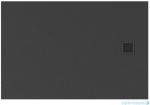 New Trendy Mori brodzik prostokątny z konglomeratu 100x90x3 cm szary B-0397