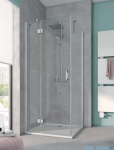 Kermi Osia Ściana boczna, szkło przezroczyste, profile srebrne 100x200cm OSTWD10020VPK