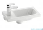 Ravak Umywalka Chrome 400 L biała z otworami 40x22 cm, lewa XJGL1100000