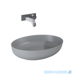 Elita Metis umywalka nablatowa ceramiczna 52x39cm light grey matt 145003