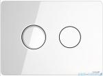 Cersanit Accento Circle przycisk spłukujący pneumatyczny 2-funkcyjny szkło białe S97-055