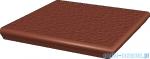 Paradyż Natural rosa duro klinkier stopnica z kapinosem narożna 33x33