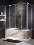 Radaway Vesta DWD+S Parawan nawannowy 150x65cm szkło fabric 203150-06/204065-06