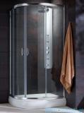 Radaway Premium Plus E Kabina prysznicowa 90x80 szkło brązowe + brodzik Siros E Compact prawy + syfon 30492-01-08N