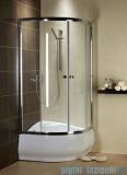 Radaway Premium A Kabina półokrągła 80x80x170 szkło fabric 30411-01-06