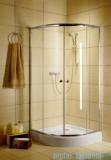 Radaway Classic A Kabina prysznicowa półokrągła z drzwiami przesuwnymi 90x90x185 szkło fabric 30000-01-06