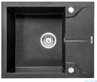 Deante Andante zlewozmywak 1-komorowy z krótkim ociekaczem 59x49 cm grafitowy ZQN 211A