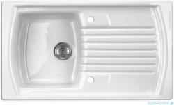 Deante Lusitano zlewozmywak ceramiczny 1-komorowy z ociekaczem biały ZCL 611N