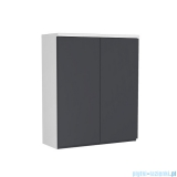 Oristo Brylant szafka górna 60x72x25cm grafit/biały OR36-SG2D-60-5