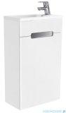 New Trendy Micra szafka wisząca podumywalkowa 40 cm biały połysk lewa ML-9040L