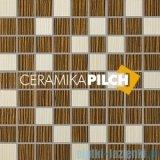 Mozaika ścienna Pilch Zebrano 1 brąz 30x30