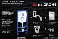 Grohe Zestaw stelaż Rapid Sl Fresh 5w1 Cosmopolitan+miska wisząca Roca Gap Rimless+deska wolnoopadająca 38827/A34647L000/A80148200U