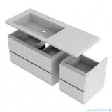Oristo Brylant szafka z umywalką lewa 125x50x48cm biały połysk OR36-SD2S-85-1/OR36-SD2S-40-1/UME-BR-125-92-L