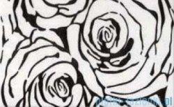 Ceramika Color Nero rosa dekor ścienny 25x40