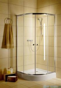 Radaway Classic A Kabina prysznicowa półokrągła z drzwiami przesuwnymi 90x90x185 szkło brązowe profile białe 30000-04-08