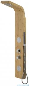 Corsan Bali panel prysznicowy z termostatem chrom drewno bambusowe B-231TCR