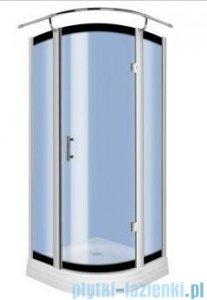Novoterm Kerra Neptun kabina prysznicowa z brodzikiem 80x80 cm szkło niebieskie profile chrom Neptun80