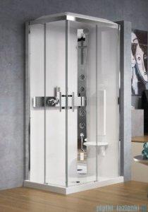 Novellini Glax 3 kabina prysznicowa standard 100x70 prawa srebrny GL3A107DT-1B