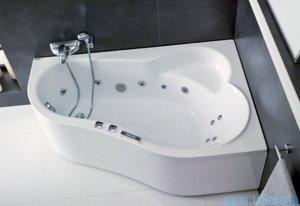 Poolspa Wanna asymetryczna LEDA 160x100 prawa + hydromasaż Smart 1 PHAH510ST1C0000