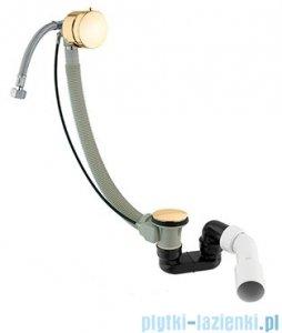 Omnires syfon wannowy automatyczny z napełnianiem złoty TK122-PLUS-3.17+64-SGL
