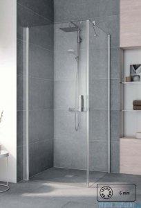 Kermi Pega Ściana boczna, szkło przezroczyste, profile srebrne 110x200cm PETWO11020VPK