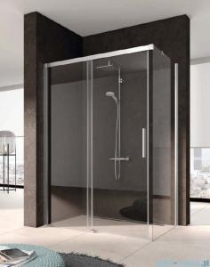 Kermi Nica Ściana boczna prawa, szkło przezroczyste, profile srebrne 75cm NITWR07520VPK