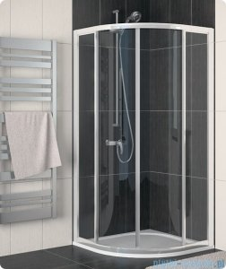 SanSwiss Eco-Line Kabina półokrągła Ecor 80cm profil srebrny szkło przejrzyste ECOR550800107